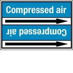 Стрелка для маркировки трубопровода Brady, 83-115 мм, «high pressure air», 52x402 мм, b-7529, 2 шт, 25 мм