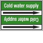 Стрелка для маркировки трубопровода Brady, белый на зеленом, 25-27 мм, «condensate water», 26x200 мм, b-7529, 3 шт, 12,5 мм