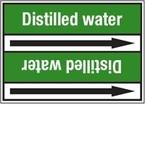 Стрелка для маркировки трубопровода Brady, белый на зеленом, «drain water», 100x33000 мм, b-7529, 550 шт, 8 мм