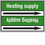 Стрелка для маркировки трубопровода Brady, белый на зеленом, 40-83 мм, «hot water», 37x284 мм, b-7529, 3 шт, 20 мм