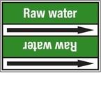 Стрелка для маркировки трубопровода Brady, белый на зеленом, 25-27 мм, «roof drain», 26x200 мм, b-7529, 3 шт, 12,5 мм