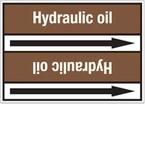 Стрелка для маркировки трубопровода Brady, белый на коричневом, 25-27 мм, «lube oil», 26x200 мм, b-7529, 3 шт, 12,5 мм