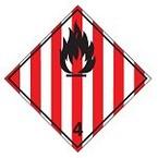 Знак маркировки грузов токсичное вещество Brady adr 6.1, 200x200 мм, b-7541, Ламинация, Полиэстер, 1 шт