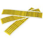 Буквы на карте Brady упаковка 25 карт,в-499 144,a и e,b,c и d,от f до z, 6x9 мм, Нейлон, 400,300,200,100 шт