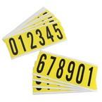 Цифры на карте Brady упаковка 25 карт,в-499,компелект состоит 0 и 1,от 2 до 5,от 6 до 9, Нейлон, 25,15,10 шт, 6 шт
