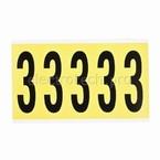 Цифра 3 Brady 3,25 карт, черный на желтом, 5 шт, 44x127 мм, Нейлон, b-499