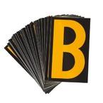 Буква B светоотражающая Brady, желтый на черном, 42x72 мм, b-946, Винил, 25 шт.