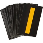 Буква I светоотражающая Brady, желтый на черном, 42x72 мм, b-946, Винил, 25 шт.