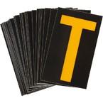 Буква T Brady, желтый на черном, 38 шт, 35x48 мм, b-946, Винил, 25 шт.