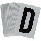 Буква D Brady, черный на серебряном,белом, 6 шт, 38x89 мм, b-946, Винил, 25 шт.