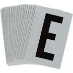 Буква E Brady, черный на серебряном,белом, 6 шт, 38x89 мм, b-946, Винил, 25 шт.