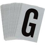Буква G Brady, черный на серебряном,белом, 6 шт, 38x89 мм, b-946, Винил, 25 шт.