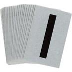 Буква I Brady, черный на серебряном,белом, 6 шт, 38x89 мм, b-946, Винил, 25 шт.