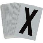 Буква X Brady, черный на серебряном,белом, 6 шт, 38x89 мм, b-946, Винил, 25 шт.