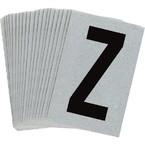 Буква Z Brady, черный на серебряном,белом, 6 шт, 38x89 мм, b-946, Винил, 25 шт.