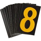 Цифра 8 Brady, желтый на черном, 25 шт, 25x38 мм, b-946, Винил, 25 шт.