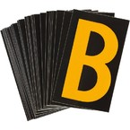 Буква B Brady, желтый на черном, 25 шт, 25x38 мм, b-946, Винил, 25 шт.