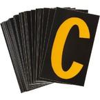 Буква C Brady, желтый на черном, 25 шт, 25x38 мм, b-946, Винил, 25 шт.