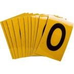 Цифра 0 Brady, черный на желтом, 25 шт, 25x38 мм, b-946, Винил, 25 шт. (gws59200)