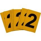 Цифра 2 Brady, черный на желтом, 25 шт, 25x38 мм, b-946, Винил, 25 шт.