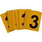 Цифра 3 Brady, черный на желтом, 25 шт, 25x38 мм, b-946, Винил, 25 шт.