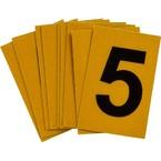 Цифра 5 Brady, черный на желтом, 25 шт, 25x38 мм, b-946, Винил, 25 шт.