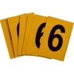 Цифра 6 Brady, черный на желтом, 25 шт, 25x38 мм, b-946, Винил, 25 шт.