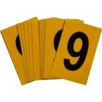 Цифра 9 Brady, черный на желтом, 25 шт, 25x38 мм, b-946, Винил, 25 шт.