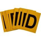 Буква D Brady, черный на желтом, 25 шт, 25x38 мм, b-946, Винил, 25 шт.