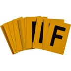 Буква F Brady, черный на желтом, 25 шт, 25x38 мм, b-946, Винил, 25 шт.