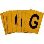 Буква G Brady, черный на желтом, 25 шт, 25x38 мм, b-946, Винил, 25 шт.