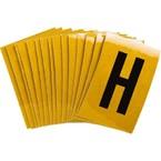 Буква H Brady, черный на желтом, 25 шт, 25x38 мм, b-946, Винил, 25 шт.