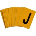 Буква J Brady, черный на желтом, 25 шт, 25x38 мм, b-946, Винил, 25 шт.