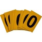Буква O Brady, черный на желтом, 25 шт, 25x38 мм, b-946, Винил, 25 шт.