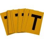 Буква T Brady, черный на желтом, 25 шт, 25x38 мм, b-946, Винил, 25 шт.