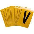 Буква V Brady, черный на желтом, 25 шт, 25x38 мм, b-946, Винил, 25 шт.