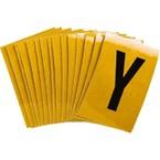 Буква Y Brady, черный на желтом, 25 шт, 25x38 мм, b-946, Винил, 25 шт.