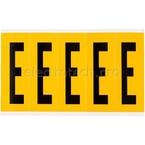 Буква E Brady, черный на желтом, 5 шт, 44x127 мм, 25 шт.