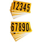 Цифры на карте Brady цифр,25 карт /,материал в-946, черный на желтом, 44x127 мм, Комплект, 5 шт