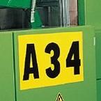 Алюминиевая панель для наклеивания цифр и букв (B-997), 6,3 × 29 см, максимум 7 символов