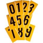 Цифры на карте Brady цифр 25 карт,1 этикетка,материал в-946, Комплект