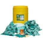 Резервуар-бочка на 200 л SKH-55 для сбора проливов химических реагентов: 50 салфеток, 41 × 51 см, 8 подушек, 43 × 48 см, 4 бона SOC, диаметр 7,6 см × 366 см