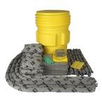 Прочная бочка на 264 л SKA-95 для ремонта: 100 салфеток, 41 × 51 см, 8 подушек, 43 × 48 см, 12 бонов SOC, диаметр 7,6 × 122 см, 8 бонов SOC, диаметр 7,6 × 366 см 50 прот. салфеток