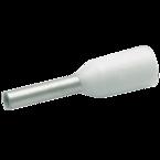 Втулочный изолированный наконечник Klauke 1696, 0,5 мм², длина втулки 6 мм, цветной ряд 2, белый
