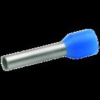 Втулочный изолированный наконечник Klauke 173B, 2,5 мм², длина втулки 8 мм, цветной ряд 1, голубой