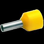 Изолированный втулочный наконечник Klauke 43512 для стойких к КЗ проводов 6 мм², для втулки 12 мм, жёлтый