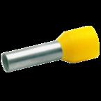 Втулочный изолированный наконечник Klauke 47512, 6 мм², длина втулки 12 мм, жёлтый