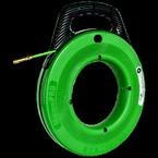 УЗК Greenlee 52055327 — Пруток из стекловолокна в стальном барабане (диаметр 550 мм) на подставке для протяжки кабеля, 80 м, диаметр 6 мм