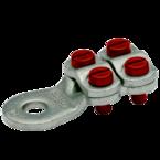 Медный луженый кабельный наконечник Klauke 589R10, 95–150 мм² под болт М10 с 4-мя зажимными болтами