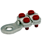 Медный луженый кабельный наконечник Klauke 590R12, 150–240 мм² под болт М12 с 4-мя зажимными болтами